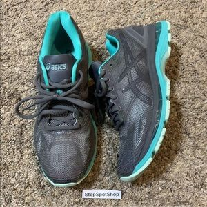 Asics 19 Women Running Shoes T7C8N Size 9.5 Gray